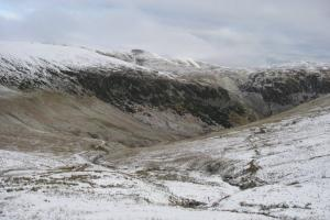 The Glenridding valley from part way up the path to Red Tarn.